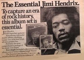 jimi hendrix newspapers 1978 / ad the essential jimi hendrix