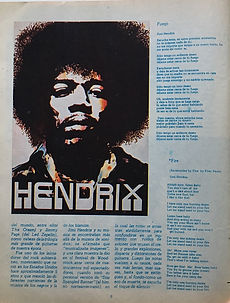 jimi hendrix magazines 1970 death/ ritmos  y canciones october 1970
