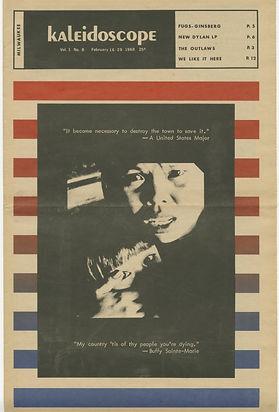 jimi hendrix newspapers/kaleidoscope february 16-29 1968/AD concerts