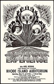 jimi hendrix memorabilia 1969/handbill may 17 1969