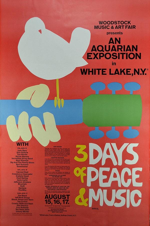 jimi hendrix memorabilia 1969/poster woodstock  1969