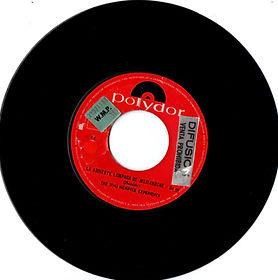 jimi hendrix collector vinyls singles 45r/side2/la ardiente lampara de madianoche/polydor peru 1969