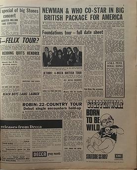 jimi hendrix newspapers 1969/new musical express july 5 1969/redding quits hendrix