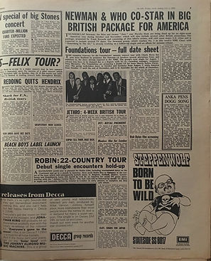 jimi hendrix newspapers 1969/new musical express july 5 1969/redding quits hendrix