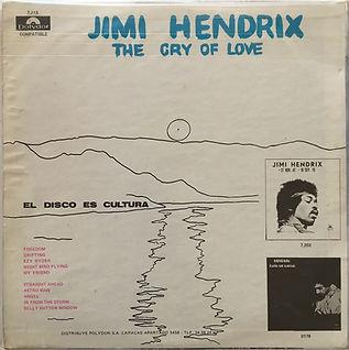 jimi hendrix vinyls lp albums/the cry of love venezuela