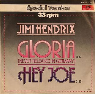 jimi hendrix collector maxi singles vinyls/gloria/hey joe polydor germany 1978