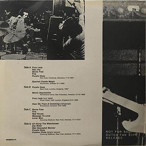 jimi hendrix bootlegs vinyls 1970 / can you here me rock