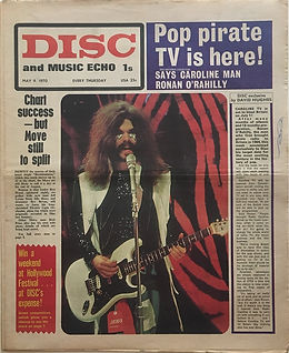 jimi hendrix newspapers 1970 /disc and music echo  may 9, 1970
