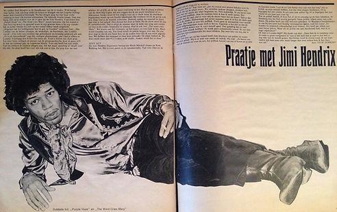 jimi hendrix magazine /muziek expres july 1967