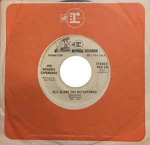 jimi hendrix collector singles vinyls/ all along the watchtower