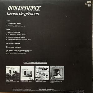 jimi hendrix album vinyl/bande de gitanos 1975  promo