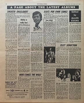 jimi hendrix newspapers 1970 / new musical express   june 27, 1970