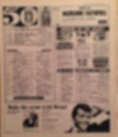 jimi hendrix newspaper/disc music echo 11/2/67 top 50