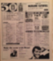 jimi hendrix newspaper/disc music echo 11/2/67 top 50