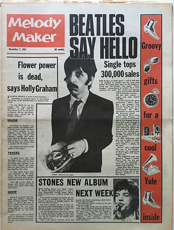 jii hendrix collector newspaper/melody maker 2/12/1967