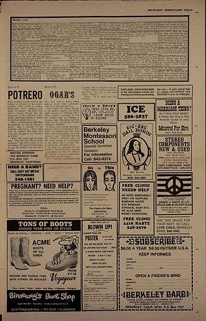 jimi hendrix newspapers 1970 / berkeley barb may 29,1970