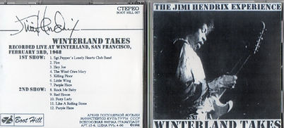 jimi hendrix cd bootlegs / winterland takes 1st and 2nd show february 3 1968