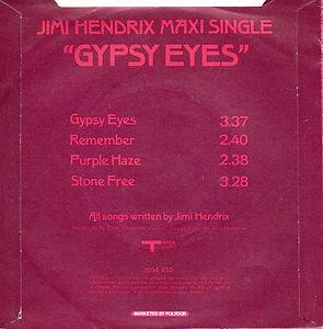 jimi hendrix ep vinyls/gypsy eyes ep 1971