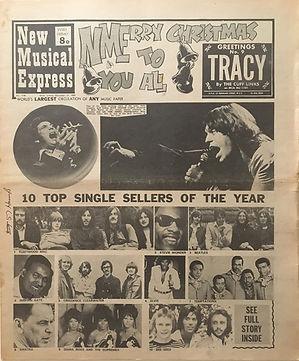 jimi hendrix newspaper 1969/new musical express  dec.27, 1969