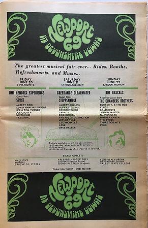 jimi hendrix newspaper 1969/los angeles free press june 6 1969/newport 69 festival in devonshire downs