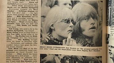 jimi hendrix collector magazine/brian jones introduced/jimi hendrix experience monterey pop festival 1967 june 18