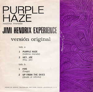 hendrix rotily /purple haze hey joe
