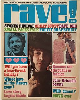 jimi hendrix magazine /rave  july 1968
