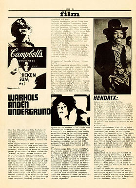 jimi hendrix newspaper 1968 /superlove march 1968