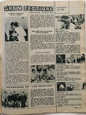 jimi hendrix magazine/lecturas 7 junio 1968 spanish