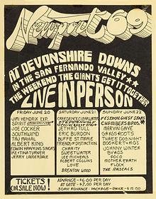 jimi hendrix memorabilia 1969/ad concert
