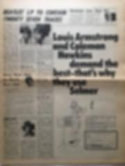 jimi hendrix newspaper 1968/melody maker  26/10/68