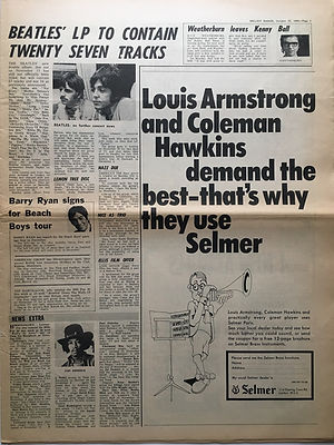 jimi hendrix newspaper 1968/melody maker  26/10/68