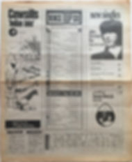jimi hendrix newspaper/new musical express june 22 1968 / top  15 lps : smash hits N°7