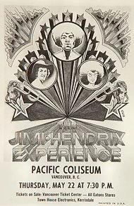 jimi hendrix memorabilia 1969/handbill vancouver may 22 1969 n