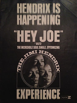 jimi hendrix magazine/billboard hey joe ad
