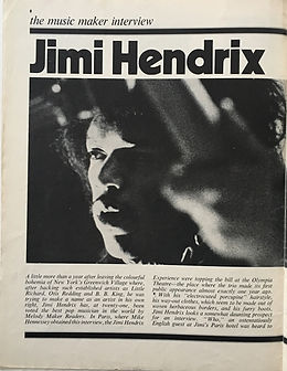 jimi hendrix magazine music maker february 1968 interview part 1