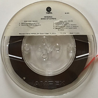 jimi hendrix reel to reel collector/band of gypsys