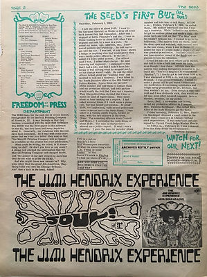 jimi hendrix newspaper collector/the seed ad: axis bold as love