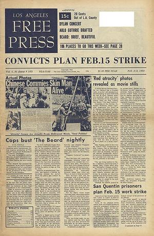 jimi hendrix newspapers 1968/ los angeles free press feb. 2, 1968