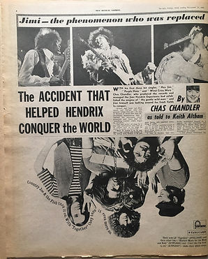jimi hendrix newspaper 1968/new musical express november 23 1968