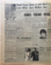 jimi hendrix newspaper/jimi radio 1 new musical express 3/2/68