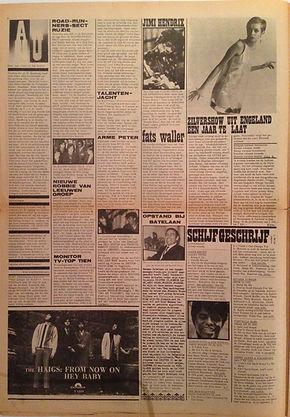 jimi hendrix newspaper 1967 / hit week 22/2/67