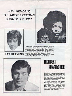 jimi hendrix memorabilia 1967 / program april1967
