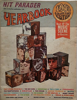 jimi hendrix magazine 1968/ hit parader yearbook 1968