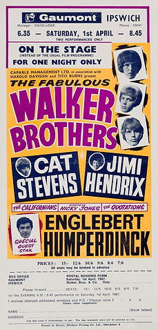 jimi hendrix memorabilia 1967 / hamdbill april 1, 1967