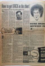 jimi hendrix newspaper/record mirror 27/4/68