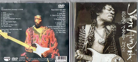 jimi hendrix bootlegs cd/ dvd royal albert hall