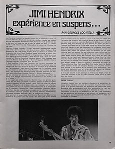 jimi hendrix collector /jazz hot   Nov. 1970  / experience en suspens...