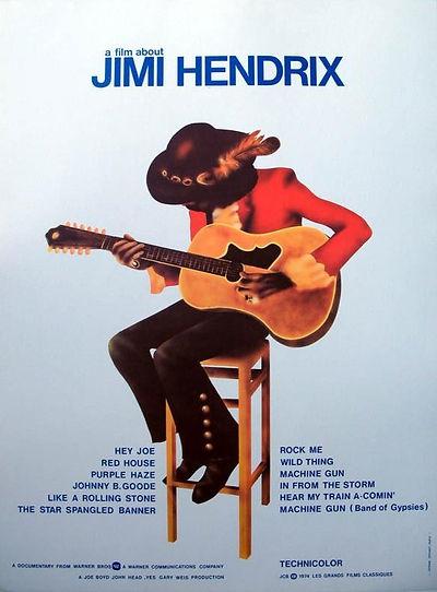 jimi hendrix poster memorabilia / a film about jimi hendrix