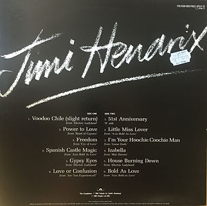 jimi hendrix collector vinyl lp / voodoo chile  1983